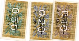 Lithuania  0.20, 0.50 Talonas 1991 UNC - Lituanie