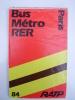 FRANCE Carte Du Réseau RATP Bus & RER Banlieue 1984 - Europe