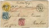 Allemagne - Anciens Etats, Prusse 10, 11 (Y&T 9, 10) Sur Lettre De Berlin Vers Breslau, Express, Superbe, Voir Scan - Preussen