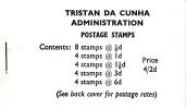Tristan Da Cunha Gibbons #SB4 Booklet 1965 Queen Elizabeth II Scenics - Tristan Da Cunha