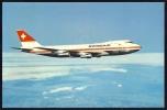 Airplane    BOEING 747  257  - B       Postcard   Swissair - 1946-....: Moderne