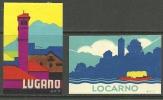 ITALIA ITALIEN ITALY Ca 1930 Vignetten Lugano & Locarno - Vignetten (Erinnophilie)