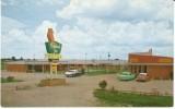 West Opelousas LA Lousiana, Cardinal Motel & Jim Bowie Restaurant, Autos, C1950s Vintage Postcard - Other