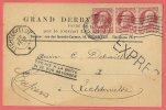 Expres / Spoed : Brussel --> Lichtervelde ( 8-hoekig Stempel / Trouvé à La Boite / In De Bus Gevonden / 1909 - 1905 Breiter Bart