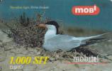 Prépayée Slovenie Mobitel Oiseau_ Bird Sterna 1.000 SIT - Slovénie