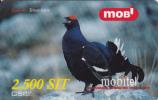 Prépayée Slovenie Mobitel Oiseau_ Bird Tetrao 1.000 SIT - Slovénie