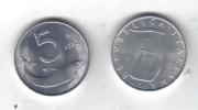 RedF - REPUBBLICA 1983 , 5 Lira Delfino Da Rotolino - 1946-… : Repubblica