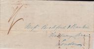 ST KITTS - 1843 - RARE LETTRE De ST KITTS Pour LONDON - St.Cristopher-Nevis & Anguilla (...-1980)