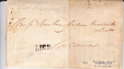 GIBRALTAR - 1811 - RARE LETTRE De GIBRALTAR Pour MADEIRA (PORTUGAL) - TAXE De 40 - Gibraltar