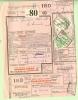 (494) Belgien Eisenbahnmarken, HERBESTHAL 11 XII 1962, No. 11, Frachtschein - Bahnwesen