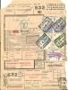 (495) Belgien Eisenbahnmarken, GEMBLOUX 9 II. 59, (Rückseite NAMUR), Frachtschein - Bahnwesen