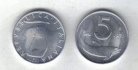 RedF - REPUBBLICA 1971 , 5 Lira Delfino Da Rotolino - 1946-… : Repubblica