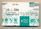 TICKET DE METRO : Barcelone T-10 1 ZONA, ATM Barcelona (Espagne) Lot TS3, Autoritat Del Transport Metropolita - Métro