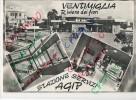 CP Italie - VENTIMIGLIA - Stazione Servizi AGIP - Station Service Escence AGIP - Punti Di Vista Multipli Due Cartoline 2 - Imperia