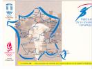 20471 Bureau Temporaire - 16éme Jeux Olympiques D'hiver (501) Parcours De La Flamme -1991 Rennes 35