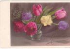 20503 Fleur Tulipe Bouquet . Saint Nicolas -  éd PP ? - Non Classés
