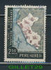 TIMBRE DU PÉROU - PERU-AEREO - EXPOSICION PERUANA PARIS V 1958 - MAP - 2.50 SOLES - OBLITÉRÉ - - Pérou