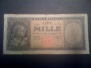 Lire 1000 Italia Medusa; DM 11.02.1949 Circolata, Serie F246  021900 Menichella - Urbini. - 1000 Lire