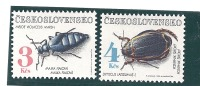 Czechoslovakia Scott # 2865-66 MNH Topicals Insects Beetles   Catalogue $4.50 - Unused Stamps
