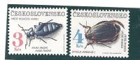 Czechoslovakia Scott # 2865-66 MNH Topicals Insects Beetles   Catalogue $4.50 - Czechoslovakia