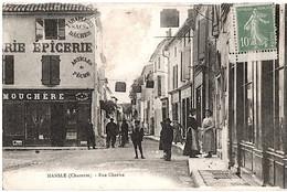 Mansle Charente Articles Pêche épicerie Boutique Animation 1910 état Très Bon - Mansle