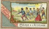 CHROMO LES JEUX D ENFANTS  Course D Attelage - Vieux Papiers