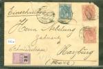 AANGETEKEND R-BRIEFOMSLAG Uit 1900 NVPH 60 + 63 Van 's-GRAVENHAGE Naar HARZBURG (5510) - Periode 1891-1948 (Wilhelmina)