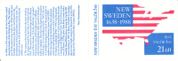 Sweden MNH Scott #1677a Complete Booklet 350th Anniversary Settling Of New Sweden - Joint With USA, Finland - Emissions Communes