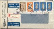 LES BEAUX DOCUMENTS DE HELVET - REGARDEZ LES IMAGES - 1940 - LETTRE RECOMMANDEE  - SUPERBE AFFRANCHISSEMENT - Suisse