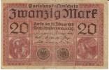 Germany #57 20 Mark 1918 Banknote Paper Money - [ 2] 1871-1918 : Duitse Rijk