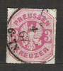 M753.-. PREUSEN / PRUSIA .-. 1867  . MI #: 24  .-.  USED .-. ARMS COAT - Prusse