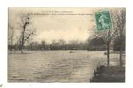 Cp, 75, Paris, La Crue De La Seine (1910), Bois De Boulogne, Route Circulaire Et Pelouse De Bagatelle Inondée, Voyagée - Paris Flood, 1910
