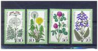 Germany 1977 Sc B542-5 Mi 949-52 MNH**Semi-postal Meadow Flowers: Garaway, Dandelion, Red Clover, Meadow Sage 2006 Scott - [7] Federal Republic