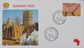VISITE DE SA SAINTETE LE PAPE JEAN-PAUL II EN 1990 - ENVELOPPE COMMEMORATIVE - Burkina Faso (1984-...)