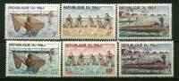 Rep. Mali** N° 90 à 95 - Pêche - Mali (1959-...)