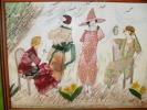 ART,COLLAGE,tableau,artis Te ,G VOLLAIRE,VOLLERE,dessin,f Emme Du Monde,PARIS,ROBE Tissée Artisanalement,sculpture, Cout - Autres Collections