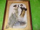 ART,tableau,artiste,G VOLLAIRE,VOLLERE,dessin,R OBE BRODEE,DANCE,SECOND EMPIRE,VOILE,PARIS,VERSAI LLES - Autres