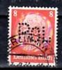 D.-reich POL -Lochung   485    O   ( A1820  ) Siehe Scan - Dienstpost