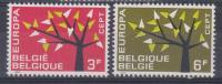 Belgique N° 1222 - 1223 ** Europa - 1962 - België