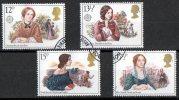 Great Britain 1980 Famous People - Authoresses Set Of 4 Used - 1952-.... (Elisabetta II)