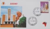 VISITE DE SA SAINTETE LE PAPE JEAN-PAUL II EN 1990 - ENVELOPPE PREMIER JOUR - Burundi