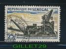 TIMBRE DU SÉNÉGAL - EXPLOITATION DE PHOSPHATE A TAIBA - 25f - OBLITÉRÉ - Sénégal (1960-...)