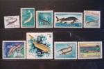 ESTURGEONS . LOT DE 9 TIMBRES - Fishes