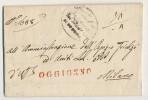 1836 OGGIONNO Timbro Lineare Rosso (Oggiono--Milano) Cpl. Di Testo Ottima Qualità - Italien
