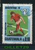 TIMBRE DU GUATEMALA - ARGENTINA, 1978 - XI CAMPEONATO MUNDIAL DE FUTBOL - Q.0.10 - USED - - Guatemala