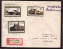 GERMANY DDR 1988 Postoffices Mi 3145-3147 On Used Registered Cover Sent To Lithuania #12282 - Storia Postale