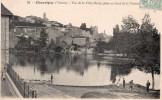Chauvigny : Vue De La Ville Haute, Prise Au Bord De La Vienne - Chauvigny