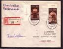 GERMANY DDR 1988 Leipzig Messe Mi 3153-3154 On Used Registered Cover Sent To Lithuania #12291 - [6] République Démocratique
