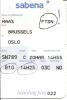 Boarding Pass - Sabena - SN789 - Brussels-Oslo FBU - 20MAR95 - Instapkaart