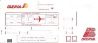 Boarding Pass - Sabena - SN888 - Madrid-Brussels - 10FEB95 - Instapkaart